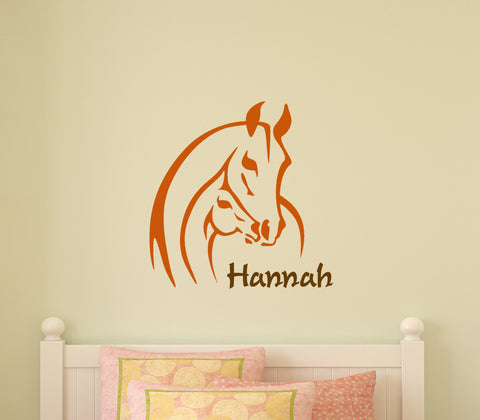 Horse Decal Personalized Pony Name Decal Teen Girls Mare Foal Sticker Decal 28 X 28 inches