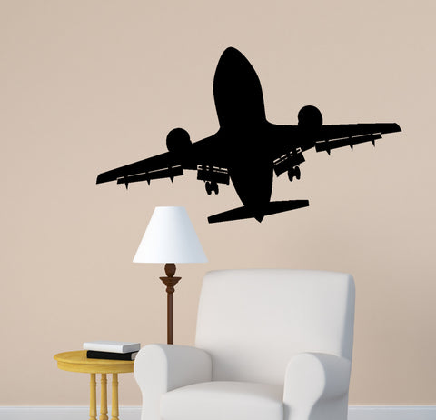 Aircraft Wall Decal Jet Airliner Aviation Room Decor Kids Boys Room Mural Airplane Jet College Dorm Office Decor