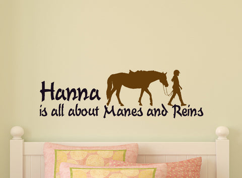 Horse Wall Decal Personalized Horse Quote Girls Room Horse Decal Teen Room Western Decor Dorm Personalized Quote