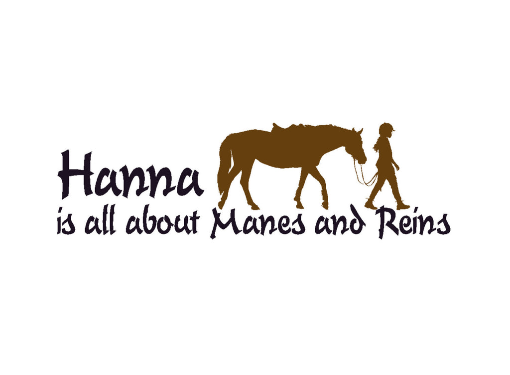 Girls Personalized Horse Decal Teen Name Western Wall Decor Pony ...