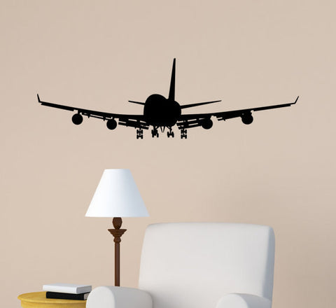 Airplane Wall Decal Jet Airliner Wall Sticker Aircraft Jumbo Jet Boys Bedroom Decor Office College Dorm Room Aviation Decal Flying Jet Mural