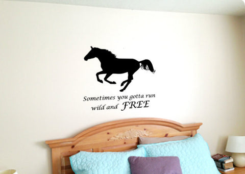 Horse Quote Decal, Horse Wall Decal, Horse Quote, Approx. 27 x 25 inches