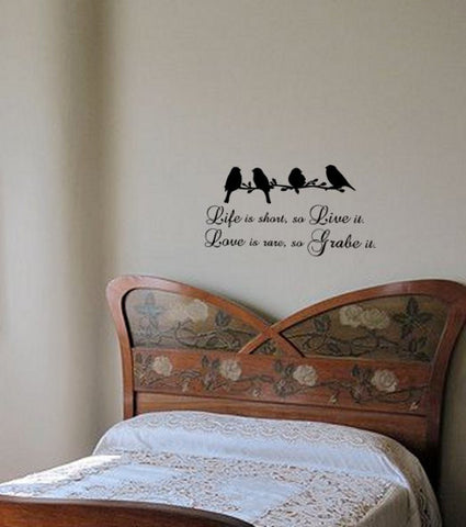 Quote Wall Decal, Americana Quote Wall Decal, Bird Decal, Approx. 27 x 14 inches.