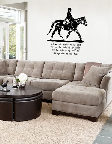 Horse Decal, Horse Quote Decal, Horse Wall Decal, Hunt Seat Decal, 27 x 32 inches