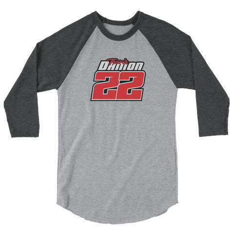 Damon 22 3/4 sleeve raglan shirt