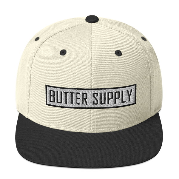 Boxed In Cream Snapback Hat