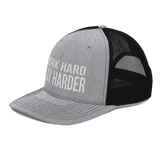 WORK HARD PLAY HARDER Trucker Cap