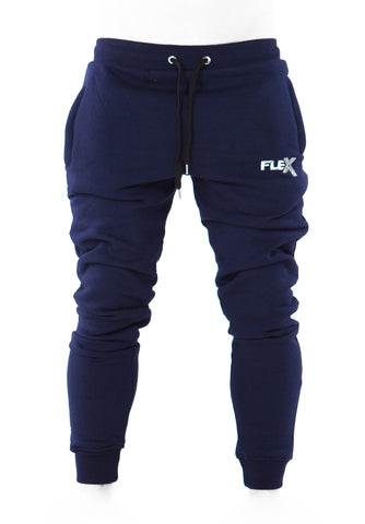 Joggers - Cuffed ankles / Navy blue