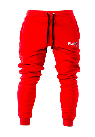 Joggers - Cuffed ankles / Fire Red