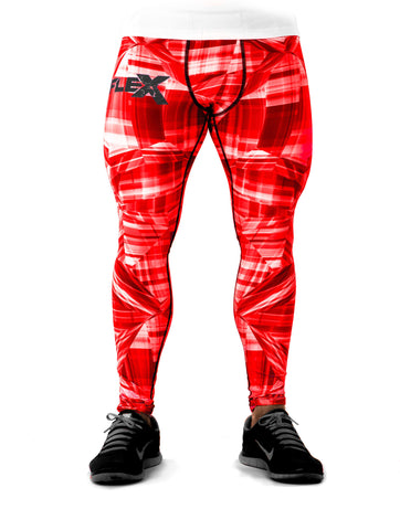 Men's Compression Leggings - Fire red