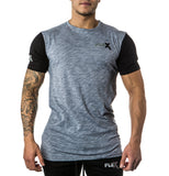 Two Tone Graphite gray Tee - Long length