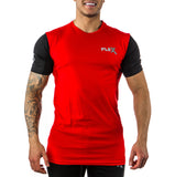 Two Tone Ruby red Tee - Long length