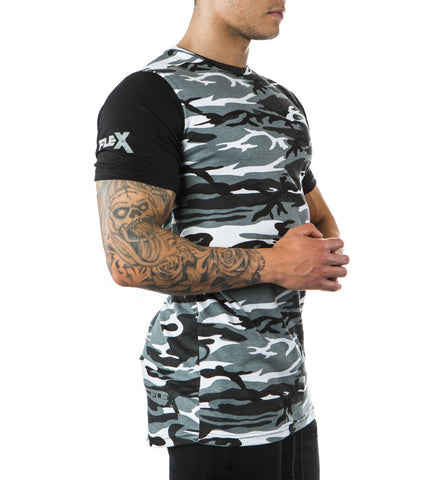 Two Tone Arctic Camo Tee - Long length