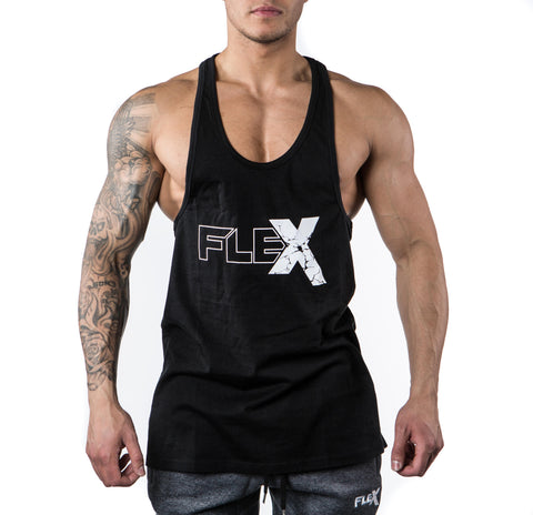 Flex Tank Stringer - Black/White