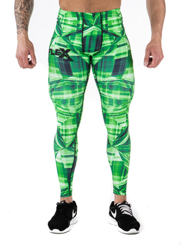 Men's Compression Leggings - Green