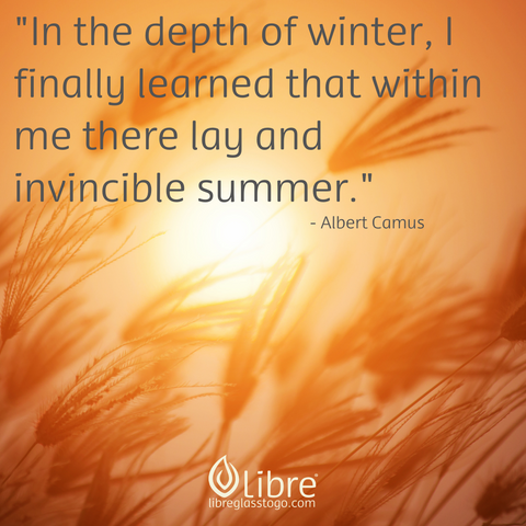 quote: In the depth of winter, I finally learned that within me lay an invincible summer. - Albert Camus