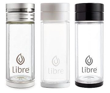 travel friendly glass water bottles and tea infusers