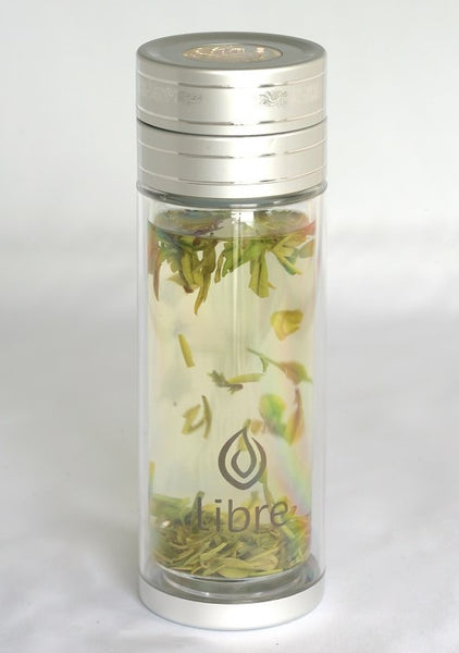 green tea, loose tea, fruit infusion - tough, thermal glass bottle