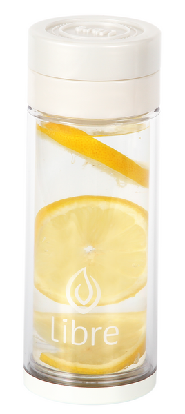 perfect glass infuser for lemon water and other fruit flavors