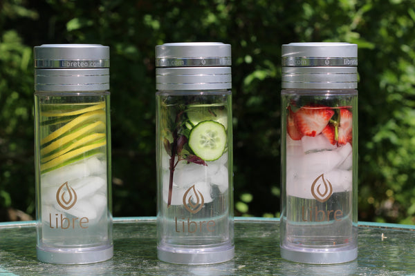 perfect fruit infuser bottle - glass inside and tough poly outside