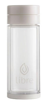 reusable glass water bottle, great for tea and fruit infusions hot or cold