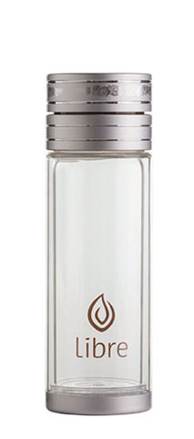 durable glass water bottles with poly exterior shell