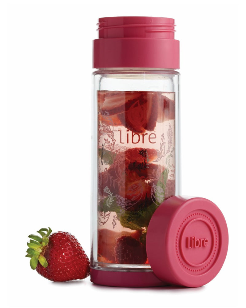 perfect for fruit infusions, glass bottle with protective poly exterior