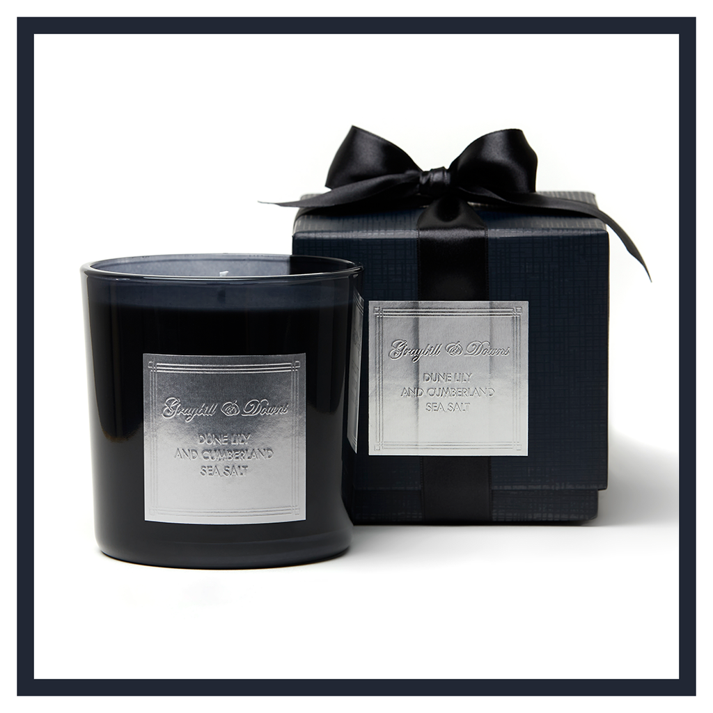 "DUNE LILY AND CUMBERLAND SEA SALT "" 1932"" CANDLE"