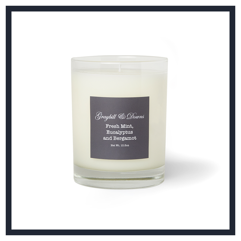 FRESH MINT, EUCALYPTUS AND BERGAMOT CANDLE