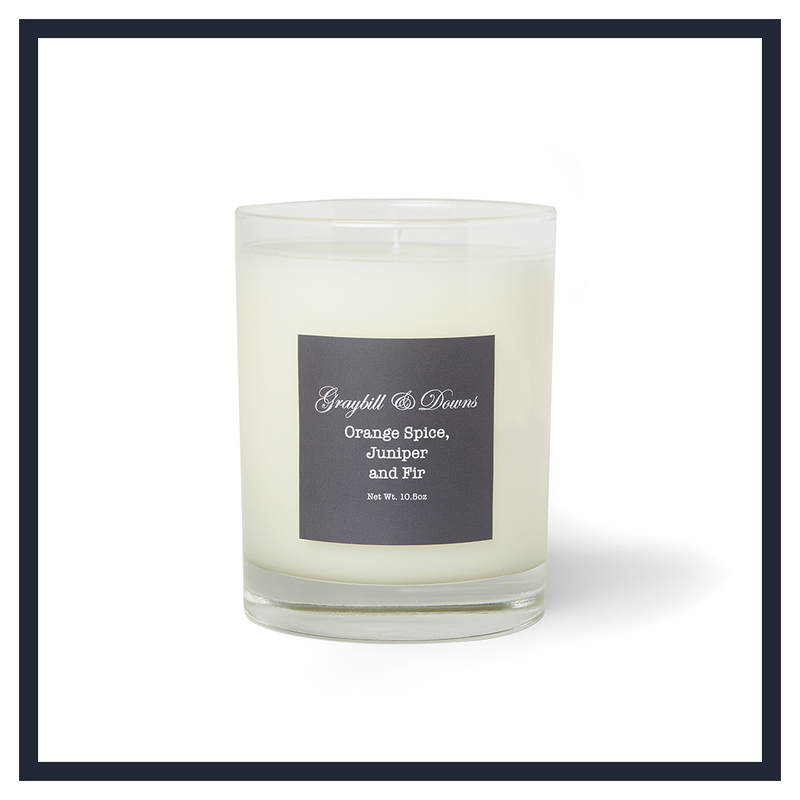 ORANGE SPICE, JUNIPER AND FIR CANDLE
