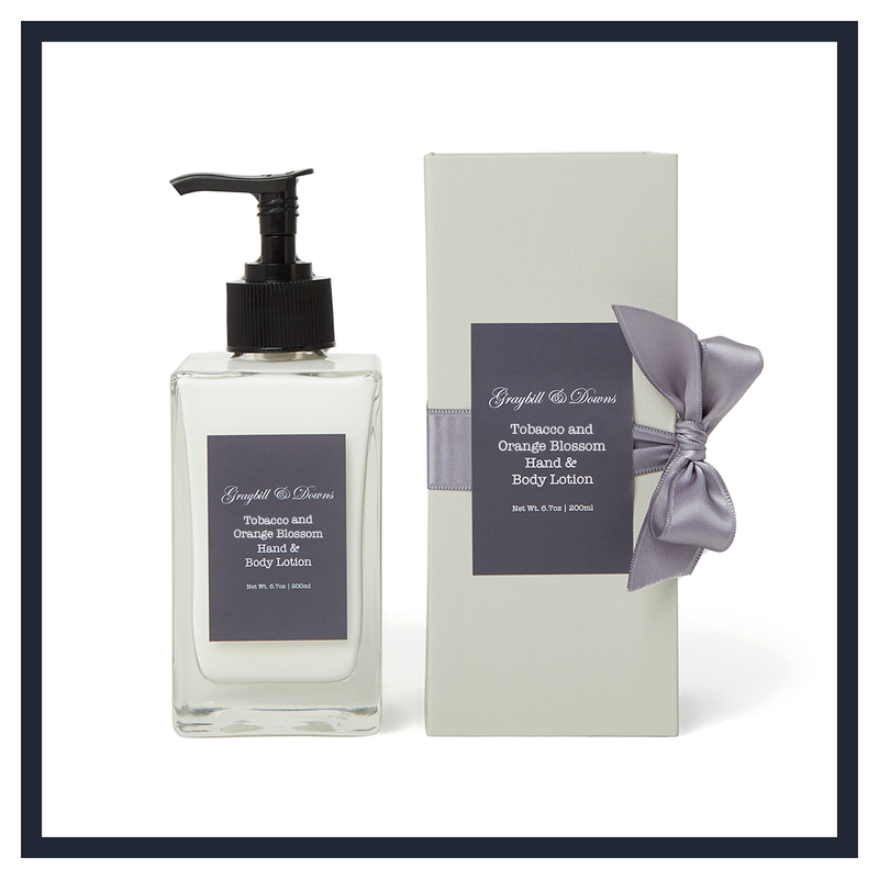 TOBACCO AND ORANGE BLOSSOM HAND & BODY LOTION