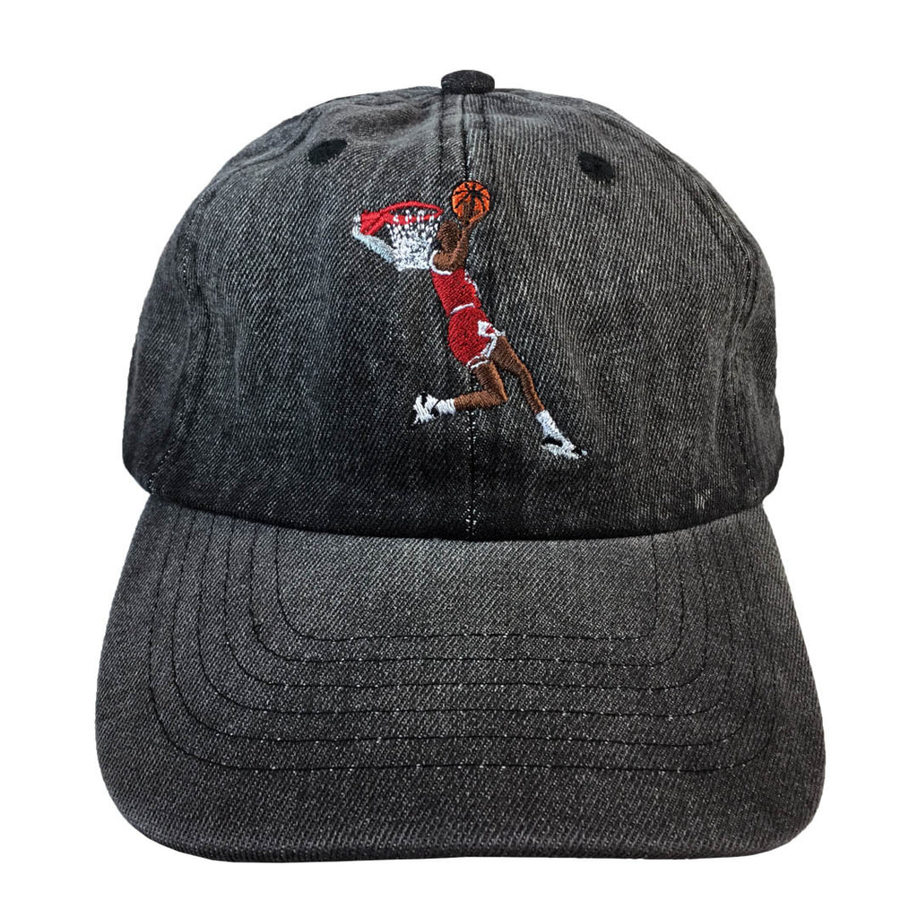 Michael Jordan 1987 Legendary Baseball Hat - The Carter Brand - Black By Popular Demand - Rooting For Everybody Black - Black Pride Apparel