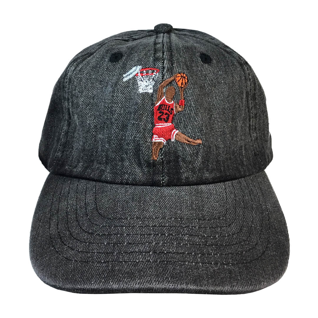 Michael Jordan Dunk Embroidered Hat - The Carter Brand - Black By Popular Demand - Rooting For Everybody Black - Black Pride Apparel