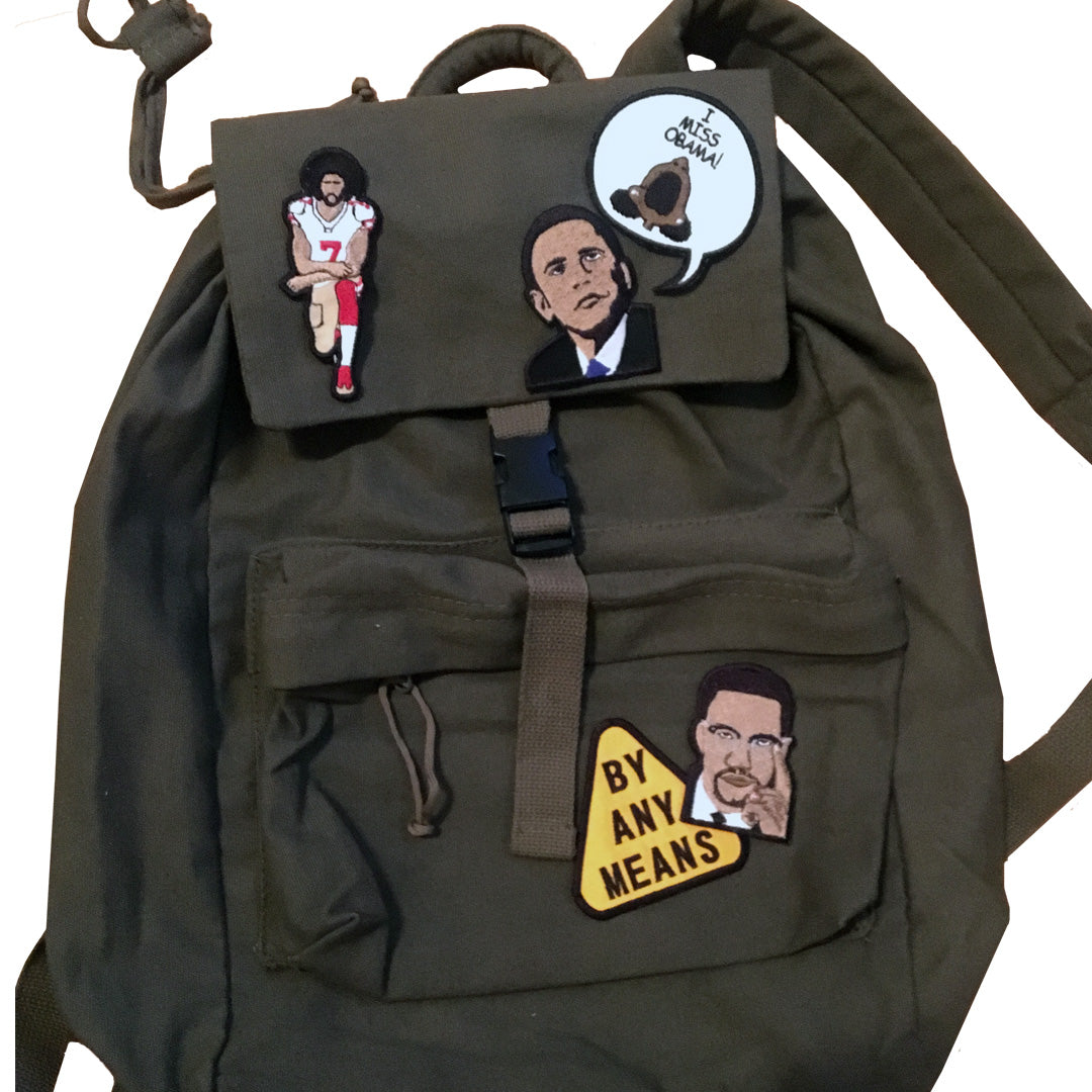Canvas Backpack - The Carter Brand - Black By Popular Demand - Rooting For Everybody Black - Black Pride Apparel