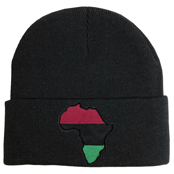 Africa Beanie - The Carter Brand - Black By Popular Demand - Rooting For Everybody Black - Black Pride Apparel
