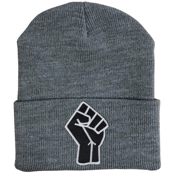 Fist Beanie - The Carter Brand - Black By Popular Demand - Rooting For Everybody Black - Black Pride Apparel