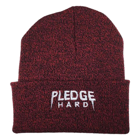 Red/White Pledge Hard Beanie