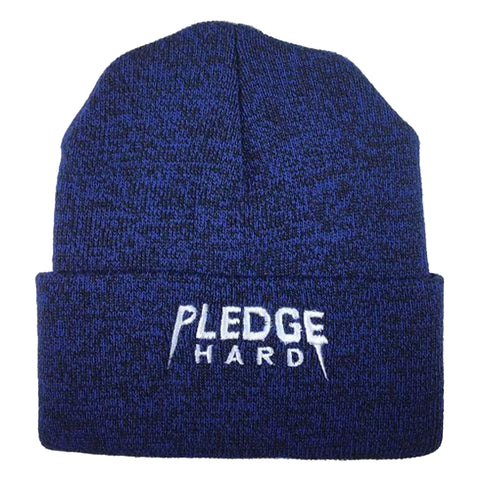 Royal/White Pledge Hard Beanie