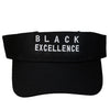 Black Excellence Visor - The Carter Brand - Black By Popular Demand - Rooting For Everybody Black - Black Pride Apparel