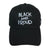 Black and Proud Embroidered Baseball Hat - The Carter Brand - Black By Popular Demand - Rooting For Everybody Black - Black Pride Apparel