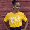 Blackity Black Unisex T-Shirt - The Carter Brand - Black By Popular Demand - Rooting For Everybody Black - Black Pride Apparel