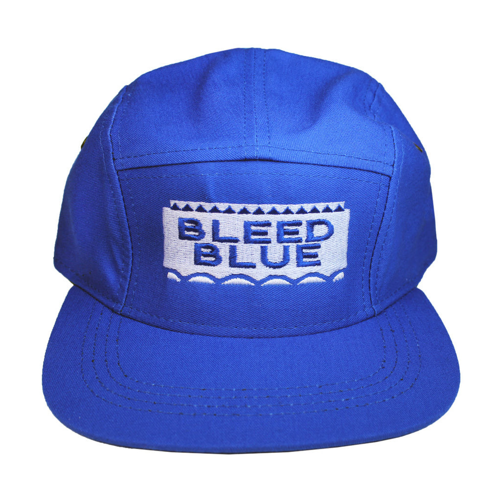 Bleed Blue 5 Panel Hat - The Carter Brand - Black By Popular Demand - Rooting For Everybody Black - Black Pride Apparel