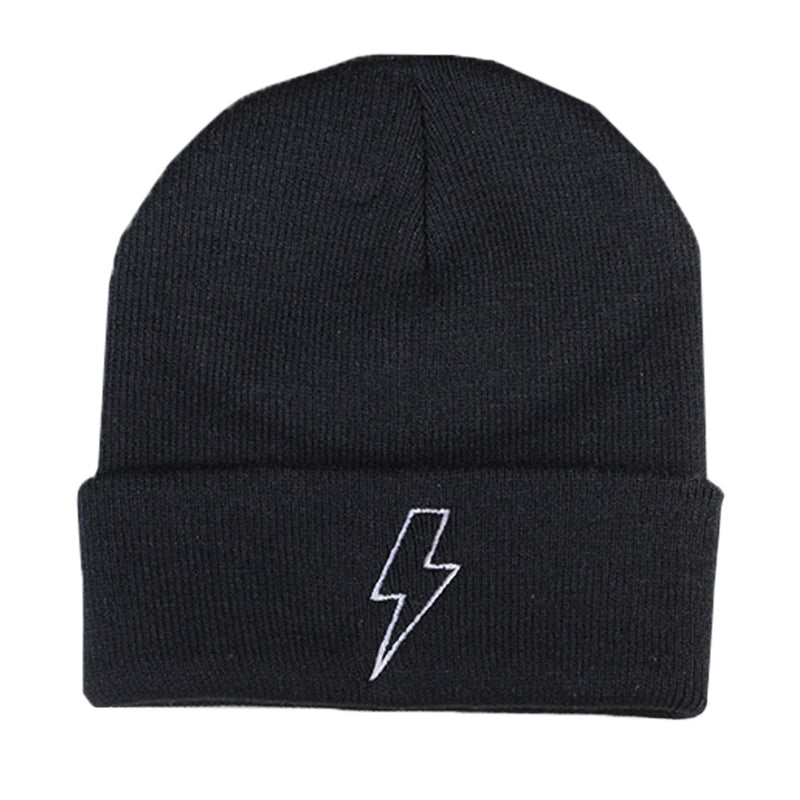 Black Lightning Beanie - The Carter Brand - Black By Popular Demand - Rooting For Everybody Black - Black Pride Apparel