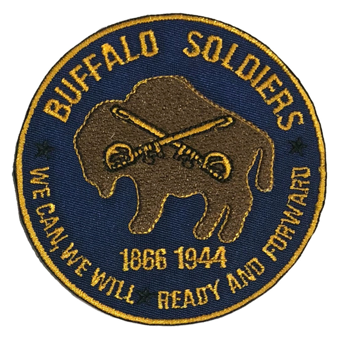 Buffalo Soldiers Patch - The Carter Brand - Black By Popular Demand - Rooting For Everybody Black - Black Pride Apparel