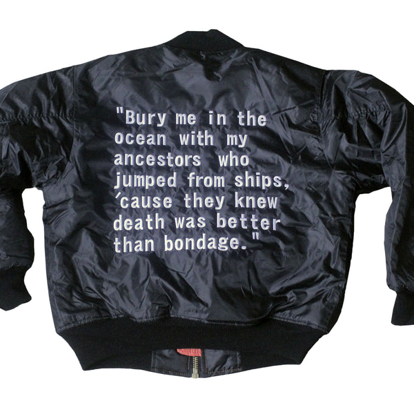 Killmonger Bomber Jacket - The Carter Brand - Black By Popular Demand - Rooting For Everybody Black - Black Pride Apparel