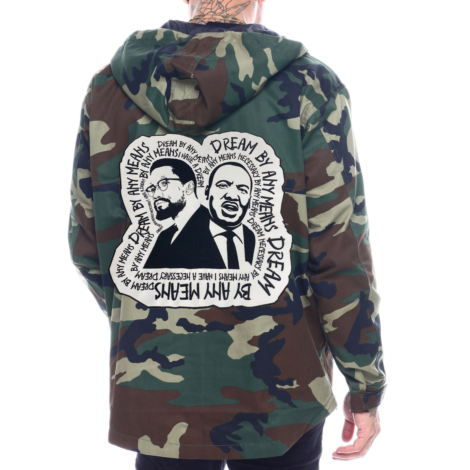 Dream By Any Means Camo Pullover - The Carter Brand - Black By Popular Demand - Rooting For Everybody Black - Black Pride Apparel