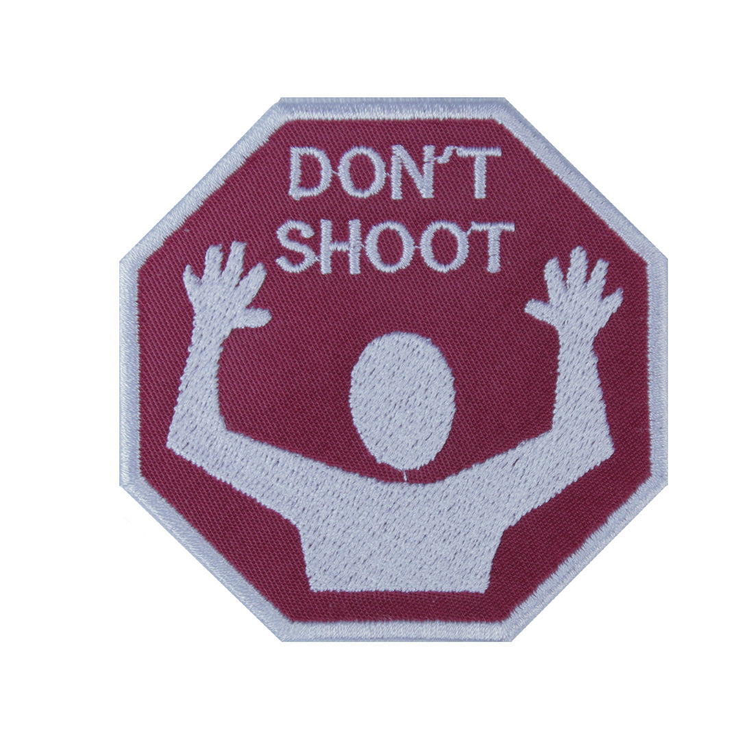 Don't Shoot Patch - The Carter Brand - Black By Popular Demand - Rooting For Everybody Black - Black Pride Apparel