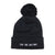 For The Culture Black Pom Beanie - The Carter Brand - Black By Popular Demand - Rooting For Everybody Black - Black Pride Apparel