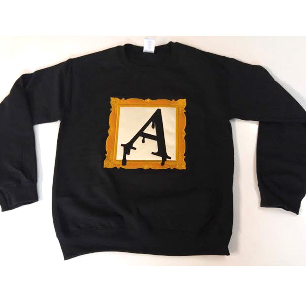 Alpha Frame Crewneck Sweatshirt - The Carter Brand - Black By Popular Demand - Rooting For Everybody Black - Black Pride Apparel