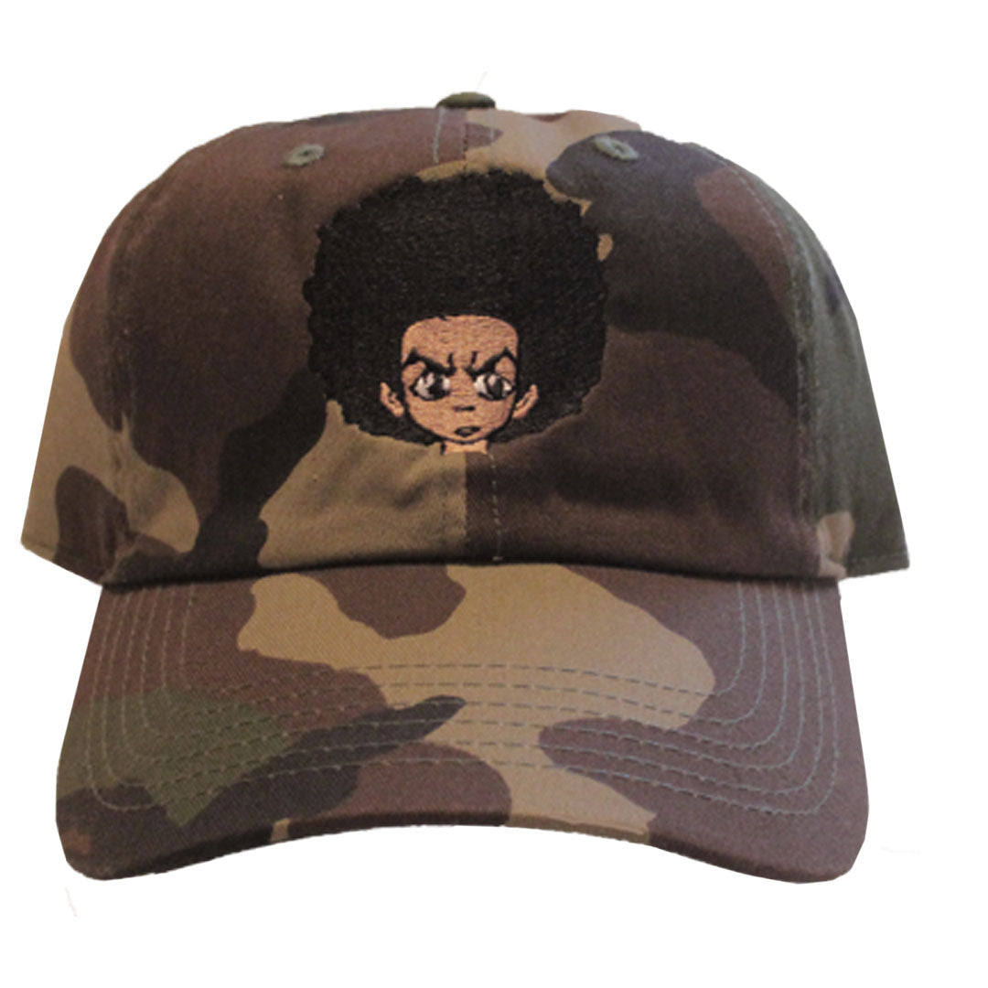 Huey Freeman Hat - The Carter Brand - Black By Popular Demand - Rooting For Everybody Black - Black Pride Apparel